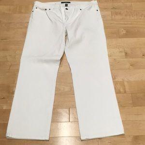 Ralph Lauren straight leg white jeans.